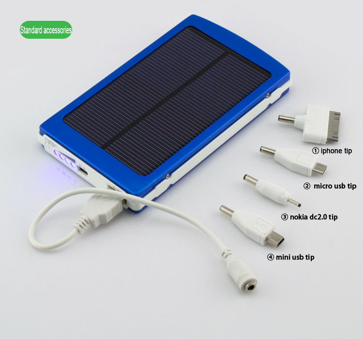 10000 MAH monocrystalline solar cell Portable solar battery panel Charger Universal Solar Power bank for Smart Phone /Ipad/Ipod(China (Mainland))