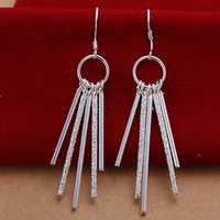 Free Shipping Wholesale 925 Silver Earring Fashion Sterling Silver Jewelry Five Post Earrings SMTE026