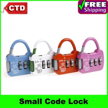 3 pcs/lot Cute Small Knapsack Bag Traveling Case Trolley Bag Luggage Travel Bag Code Lock,