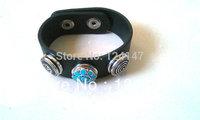 Free Shipping  Fashion 2014 promotion day genuine leather bracelet