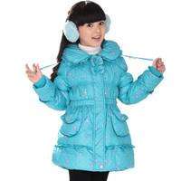 Children's clothing child down coat medium-long female child down coat down coat 8620