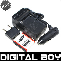 Digital Boy (3pcs/set) 1pcs SLB-1137C SLB 1137C Camera Battery+Charger+Car Charger For For Samsung I7 Camera