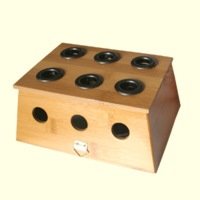 Free shipping Bamboo moxa box moxibustion box moxibustion frame rack box moxa rack