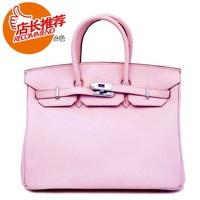 women's cowhide handbag fashion handbag 35 platinum bag leather 100% women's fashion genuine leather handbag  Free Shipping