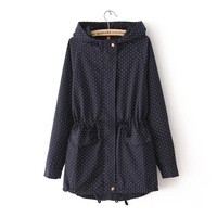 2013 winter new arrival women jackets fashion slim Hooded windbreaker casual overcoat lady's coat pockets Y0341