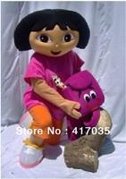DORA the explorer adult costume love expeditionary DORA mascot costume plush cartoon role playing clothing polyfoam head