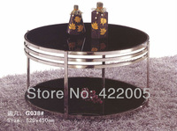 2013 fashion items living room coffee table round glass coffee table stainless steel coffee table living room furniture, G038