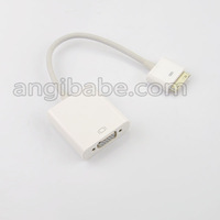 Dock Connector to VGA Cable Adapter for iPhone 4 4s iPad iPad2 iPad3 Free Shipping