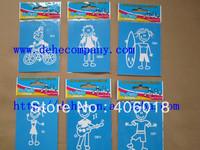 (256pcs/lot ) 64 designs, Big discount family car stickers  --- DH3762