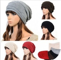 New Autumn Winter Knitting Wool Hat for Women Caps Lady Beanie Knitted Hats Caps,DHL Free Shipping