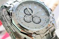 2013 ORLANDO SPORT WATCHES QUARTZ HOURS DATE HAND LUXURY CLOCK MEN STEEL WRIST WATCH FREE SHIPPING456