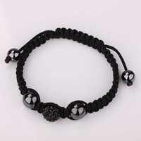 New Style! Free Shipping!10mm Handmade Disco Ball Beads Men Gift Crystal Shamballa Bracelet Fasion jewelry Bracelet SBB002