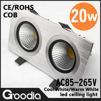 High quality,AC85-265V,20w Ceiling light,1000LM,20w,Cool/Warm white,COB,CE&ROHS,High quality Aluminum,LED Lamp,Free Shipping