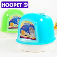 2014 Cat supplies litter box full closed double layer cat toilet cat litter basin pet supplies cat litter shovel