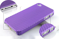 1PC High Quality Purple Dust Resistant Hard Case Back Cover Skin for Apple iphone 4 4S