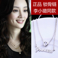 girls Gift 925 pure silver necklace female short design 2012 fashion female necklace female birthday gift women