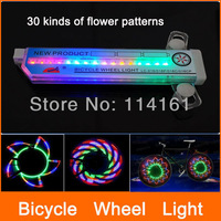 Bike wheel  light bike LED lamp 16 LEDs bicycle cycling light 30 patterns waterproof for bicycle warning light