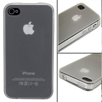 1PC White Crystal Transparent Ultra Thin Soft Case Back Cover Skin for iphone 4 4s