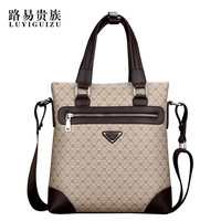 Fashion commercial male shoulder bag patchwork print messenger bag fashion bag portable document bag