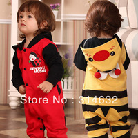 2013New Babies Hooded Romper,Infants Bee ladybug styling Climbing clothes,Children Animal monolayer Coverall,Kids Jumpsuit 4/lot