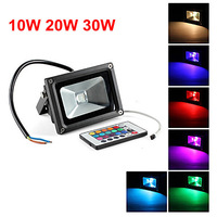 10W 20w 30W 50w RGB/CW floodlight IP65 waterproof 110V/220V/240V black shell outdoor flood light wall washer/luminaire light