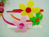 2013 new girl hair accessories hair bands beautiful sunflowers children candy plastic hair bands head buckle