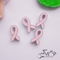 Free Shipping 8mm DIY Breast Cancer Ribbon  Slide beads 50pcs Fit For Bands