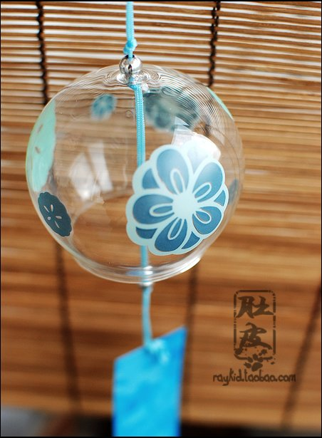 Wind chimes glass jianghu windbags japanese style windbags - begonia flowers birthday gift(China (Mainland))