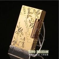 Genuine French copper movement broke into Dupont lighters genuine gold lighter dupont Clover