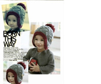 New Hot Kid Bomber Hat Fit 6Month-6Yr Girl Boy Children Autumn Winter Warm Cap Baby Accessorie Wholesale Free Shipping 3PCS/Lot