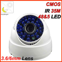 free shipping!builded in  IR-CUT filter  real color 48 LEDs IR CCTV security  home  surveilance camera with 1/4 CMOS 600TVL