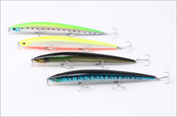 Long Minnow Hard Fishing Lures 150mm 18g VMC Treble Hooks,plastic lures,8pcs/lot,Free shipping