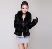 2013 faux women's fight mink fox fur short design rex rabbit hair fur coat