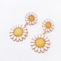 Min.order is$15(mix order)Fashion earrings jewelry, New Arrival  European fashion fresh Ruby Sun Flower Earrings