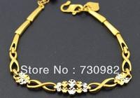9k 14k  18k  yellow glod  women bracelet  fashion double colors jewelry beautiful hand wearing free shipping