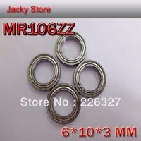 Free Shipping 20pcs/Lot 676 676ZZ MR106ZZ 6*10*3 Thin Wall Miniature Deep Groove Ball Bearing
