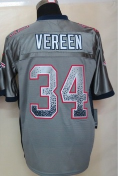 Cheap Football Jerseys 34 Shane Vereen Drift Fashion Gray Elite American Men's Sport Jersey Embroidery Logos Size40-56