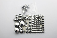 Motorcycle Chrome Bolt Caps Topper Cover For Harley Davidson Softail Twin Cam 2000 - 2006