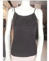 Black knitted spaghetti strap top e12ec5133a 599 3 - 5