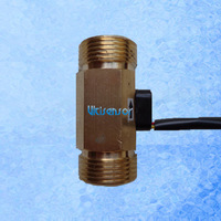"USC-HS43TB brass body hall effect water flow sensor male G3/4"" DN20mm 2-45LPM free shipping"