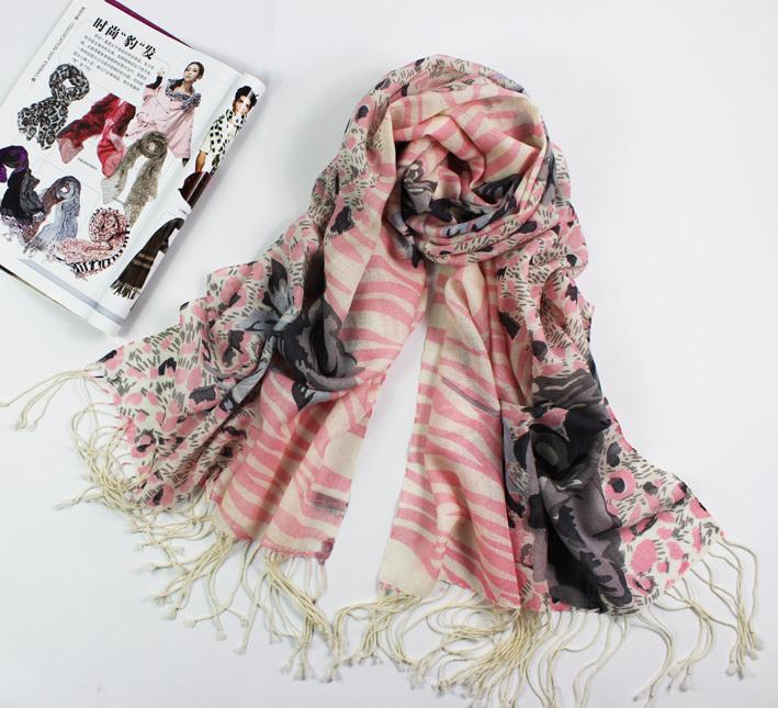 Versandkostenfrei! Zebra-print und schöne rose schal 100% wollschal klimaanlage Cape pashmina schal