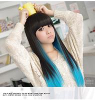 женщины японский harajuku Лолита волны градиента светло коричневый Фиолетовый Аниме Косплей парики