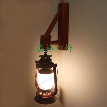 Fashion vintage tieyi bamboo wall lamp chinese style antique personality nostalgic lantern bar lights lamps