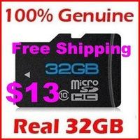 2013 cheap 32GB MICROSD CLASS 10 MICRO SD HC MICROSDHC TF FLASH MEMORY CARD REAL 64 GB WITH SD ADAPTER