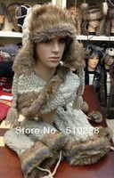 Wholesale  High Quality  Winter Acrylic  Scarf / Hat/ Gloves Set