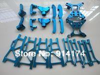 20pcs/set  henglong 3851-2  1/10 Mad Truck Aluminum CNC Upgrade part   metal front arms ect  free shipping