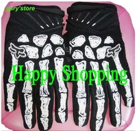 Tactical Airsoft Glove Racing Hunting Cycling Bike Full Finger White Skeletons Gloves S M L XL