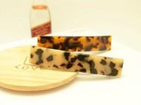 Promotion Wholesale Free Shipping 1 dozen/lot Tortoise France Cellulose Acetate Slide Hair Clips Acetate Hair Accessories