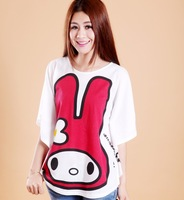 038 2013 loose fashionable casual plus size preppy style rabbit batwing sleeve