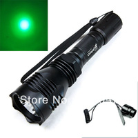 Hunting flsahlight, UniqueFire HS-802 Green light  LED Flashlight Torch LED XRE 300 Lumens Long Range 1-Mode with Remote Switch